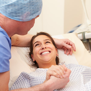woman receiving fertility treatment, high-quality and expert patient care for fertility treatments and IVF